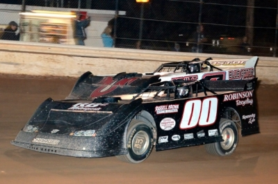 Russell Brown Jr. (00) gets the jump in Saturday's race. (Troy Bregy)
