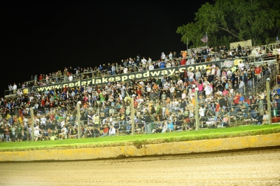 The backstretch at Cedar Lake Speedway. (mikerothphotography.com)