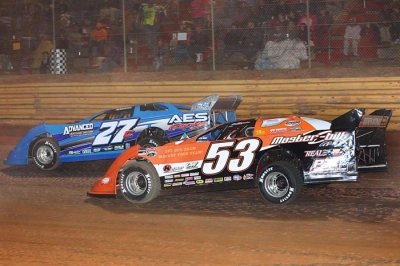 Ray Cook (53) chases Dennis Franklin (27c) at Swainsboro. (ronskinnerphotos.com)