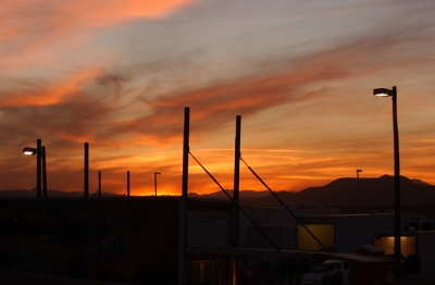 A sunset at Tucson International Raceway. (K.C. Rooney)