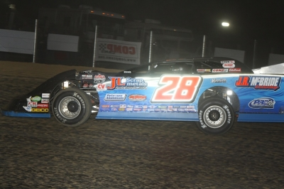 Dennis Erb Jr. led 44 of 50 laps at Brownstown. (Jeremey Rhoades)