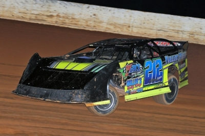 Josh Putnam heads to victory at Boyd's Speedway. (Chad Wells)