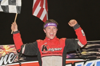 Bobby Pierce celebrates his third Summernationals victory. (Jeff Hall)