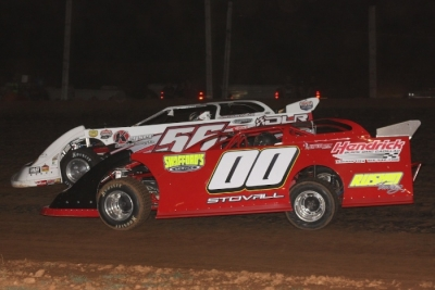 Winner Jesse Stovall (00) works on Tony Jackson Jr. (56) at Springfield. (Ron Mitchell)