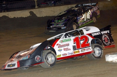 Kevin Weaver heads for victory. (Jim DenHamer)