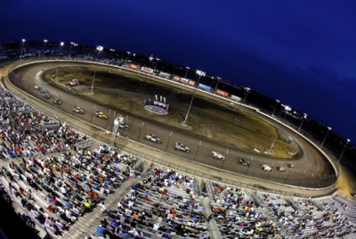 The Texas Motor Speedway Dirt Track hosts the SUPR opener. (Getty Images)