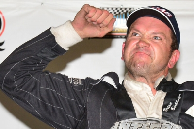 Brian Birkhofer celebrates his victory. (rickschwalliephotos.com)