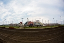 A look from afar at the steep grandstand at I-80 Speedway in Greenwood, Neb., before the start of the July 22 Imperial Tile Silver Dollar Nationals finale. (heathlawsonphotos.com)