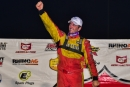 Tim McCreadie celebrates July 22's Imperial Tile Silver Dollar Nationals victory worth $53,000 at I-80 Speedway in Greenwood, Neb. (heathlawsonphotos.com)