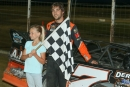 Ricky Weiss won his 18th career NLRA victory July 22 at Devils Lake Speedway in Doyon, N.D. (speedway-shots.com)