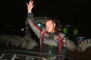 Jack Sullivan waves to the crowd at I-30 after his eighth Comp Cams win of the season. (Woody Hampton)