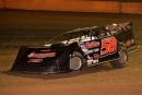 A.J. Diemel of Elk Mound, Wis., races to a $3,000 victory Sept. 16 at Cedar Lake Speedway in New Richmond, Wis., for his Legendary 100 weekend sweep. (trackratphotos.vfcfunding.com)