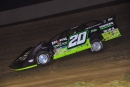 Jimmy Owens led all the way in Sept. 22's Steve Barnett Tribute for a $10,000 victory in Brownstown (Ind.) Speedway's Lucas Oil Jackson 100 weekend opener. (heathlawsonphotos.com)