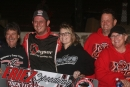 Russ King's team celebrates Sept. 22's ULMS victory in the Dick Litz Memorial at Eriez Speedway in Hammett, Pa. (Todd Battin)