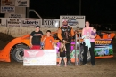 Justin Kay earned $5,000 for Sept. 23's Liberty 100 victory in the Deery Brothers Summer Series finale at West Liberty (Iowa) Raceway. (mikerueferphotos.photoreflect.com)