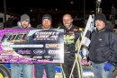 Steve Banal and his team celebrate his Nov. 11 FUEL victory at County Line Raceway in Elm City, N.C., that paid $5,000 and wrapped up his tour title. (jbhotshots.com)