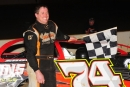 Mike Franklin won April 14's Crate Late Model feature at Winchester (Va.) Speedway. (Travis Trussell/wrtspeedwerx.com)
