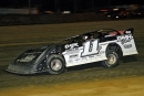 Hometown driver Ross Robinson heads to victory in April 19's RUSH Battle of the Bay feature at Georgetown (Del.) Speedway. (Jim DenHamer)