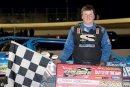 Logan Roberson earned a $2,000 Battle of the Bay victory April 21 while wrapping up the miniseries title at Winchester (Va.) Speedway. (Jimmy Saffell Jr./wrtspeedwerx.com)