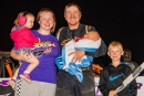 George Dixon Jr.'s family joins him after his May 20 Limited Late Model victory at Bedford (Pa.) Speedway. (Jason Walls/wrtspeedwerx.com)