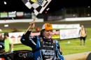 Scott Bloomquist led all 45 laps May 24 at Lucas Oil Speedway in Wheatland, Mo., to win the Show-Me 100 weekend opener. (heathlawsonphotos.com)