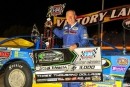 John Kaanta earned $2,000 on May 25 at I-94 Speedway in Fergus Falls, Minn., for his Wollak Construction WISSOTA Challenge Series victory. (crpphotos.com)