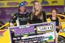 Tyler Bare earned $20,000 June 16 at Virginia Motor Speedway for his first Super Late Model victory in the Ultimate-sanctioned USA 100. (Larry Burnett/wrtspeedwerx.com)