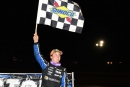 Cory Hedgecock celebrates his first career Southern All Star victory Sept. 15 at I-75 Raceway in Sweetwater, Tenn. (dt52photos.com)