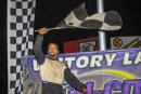Chuck Mitchell won Sept. 14's Crate Late Model feature at Tri-City Speedway in Granite City, Ill. (stlracingphotos.com)