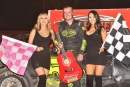 Cody Laney completed a sweep of the 33rd annual Budweiser Nationals on Oct. 13 at Bakersfield (Calif.) Speedway. He won $1,200 on the opening night and $1,500 in the finale. (photofinishphotos.com)