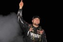 Brandon Overton waves to the crowd at Cherokee Speedway after his first career Blue-Gray 100 victory. (ZSK Photography)