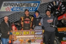 Scott Crigler's team celebrates his Nov. 17 victory in Turkey Bowl VII at Springfield (Mo.) Raceway. He earned $2,000. (stlracingphotos.com)