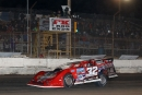 Bobby Pierce takes the checkers Jan. 11 at FK Rod Ends Arizona Speedway for his third straight Keyser Manufacturing Wild West Shootout victory. (mikerueferphotos.photoreflect.com)