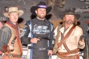 Gunfighters helped Cade Dillard (center) celebrate Jan. 12's Keyser Manufacturing Wild West Shootout victory at FK Rod Ends Arizona Speedway. (photofinishphotos.com)