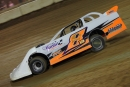 Steve Banal heads to victory March 22 in the season opener on the Fast Unified Engine Late Model Series. (Blake Harris)
