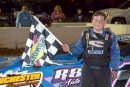 Logan Roberson earned $3,000 on April 20 for his RUSH Battle of the Bay finale victory at Winchester (Va.) Speedway. (Jimmy Saffell Jr./wrtspeedwerx.com)
