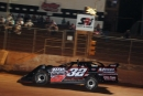 Michael Brown takes the checkered flag at Friendship Motor Speedway, one of two Fastrak Racing Series victories the Pageland, S.C., driver picked up Friday. (Michael Bumgarner)
