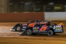 Jake Teague (17) edged Mark Whitener (5) on May 24 at Smoky Mountain Speedway in Maryville, Tenn., for an American Crate All-Star Series victory. (Chris McDill)