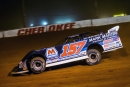 Mike Marlar of Winfield, Tenn., heads toward victory Friday at Cherokee Speedway. (heathlawsonphotos.com)