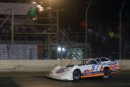 Steve Casebolt flashes under the flagstand at Portsmouth to win the Boone Coleman Memorial Gator 50. (Tyler Carr)