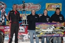 Pat Doar and crew enjoy victory lane at Cedar Lake following Doar's $10,000 Masters triumph. (Tyler Rinken)