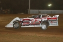 After engine problems in his primary car, Tony Jackson Jr. drove the No. 12m of Raymond Merrill to a $5,000 Comp Cams Super Dirt Series victory June 15 at I-30 Speedway in Little Rock, Ark. (woodyhamptonphotos.com)