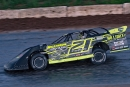Logan Artnz heads to his first career American Ethanol Late Model Tour victory June 22 at Thunderbird Speedway in Muskegon, Mich. (Jim DenHamer)