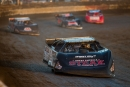 Scott Bloomquist (0) heads to a runner-up finish in the third heat in Round 1 of Friday's prelims for the Silver Dollar Nationals. (heathlawsonphotos.com)
