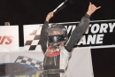 Tyler Carpenter celebrates a career-high $20,059 victory in Richmond's Butterball Memorial. (Alli Collis/DirtonDirt.com)