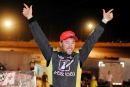 Donald McIntosh celebrates his $10,000 Schaeffer's Fall Nationals victory Saturday at Chatsworth's North Georgia Speedway. (binghamfreelance.com)
