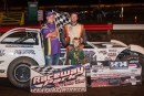 Nate Beyenhof won Aug. 18's Tri-State Late Model Series race at Raceway Park in Jefferson, S.D., for his third series victory of the season. (nwiowapics.com)