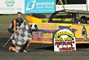 Dustin Strand picked up a $1,200 NLRA victory at Greenbush Race Park on Saturday. (Valerie Truscinski)
