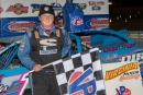 Logan Roberson picked up $3,000 for a Fastrak Racing Series victory Aug. 24 at Virginia Motor Speedway in Jamaica, Va. (Larry Burnett/wrtspeedwerx.com)