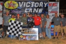 David Crabtree and his team enjoy his first career Southern All Star victory Sept. 21 at I-75 Raceway in Sweetwater, Tenn. (mrmracing.net)